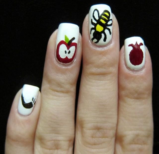 Apples & Honey Nail Art