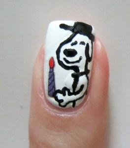Snoopy Nail Art Hanukkah
