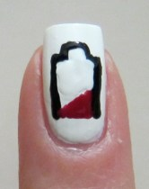 Low Battery nail art