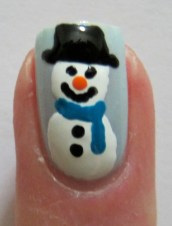 Snow days nail art