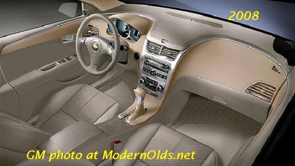 2008 Chevrolet Malibu Interior Specs