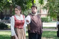 Sheila Willis as Lady Capulet and J. Preddie Predmore as Lord Capulet