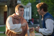 Brendan Hutt as Friar Lawrence and Brian Scannell as Romeo