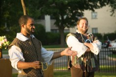 Martel Manning as Benedick and Chris Smith as Don Pedro