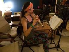 Maureen Yasko on flute
