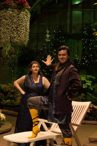 """""""What is the matter with thee, Malvolio???"""" Elizabeth Rentfro as Maria and Jared Dennis as Malvolio"""