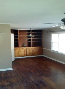 Credenza w/ bookcase (built-in)