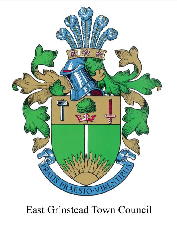east grinstead crest & wording