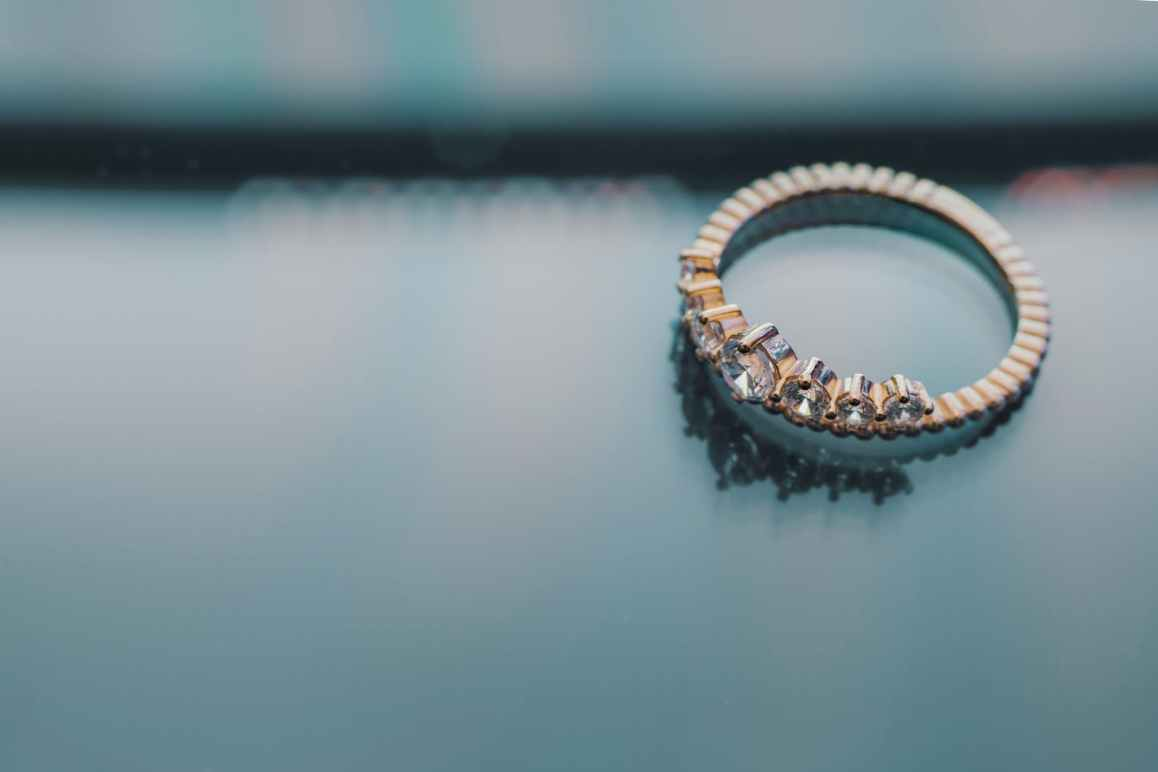 gold colored diamond engagement ring
