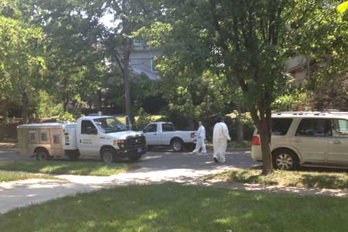 Animal control removing animals in Valentine. Photo by Mary Jo Draper.
