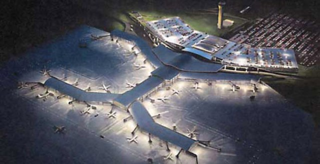 A rendering of the new KCI airport.