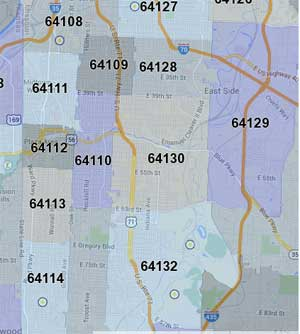 Kansas City Area Zip Code Map.City Gets Grant To Alter Pits Bulls In Two Zip Codes Midtown Kc Post