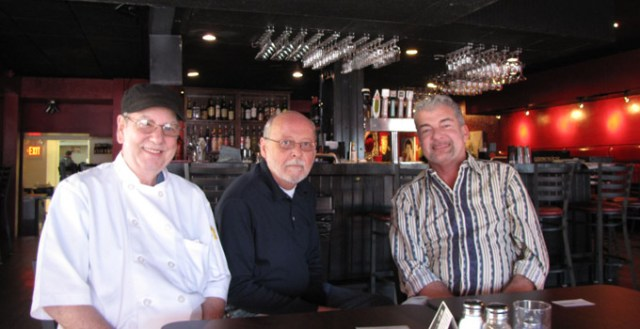 Chef Richard Martin, Manager Pat Hanrahan and Owner Neil Pollock at the Broadway Jazz Club.