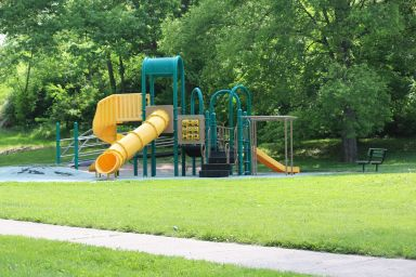 The current playground at Roanoke and Madison.