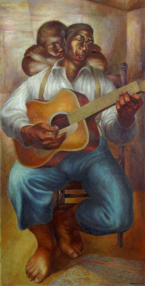 Image credit: Charles White, American, (1918–1979). Goodnight Irene, 1952. Oil on canvas, 47 x 24 inches (119.4 x 61 cm).