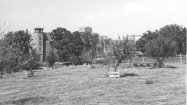 This historic photo (date unknown) shows the Kansas City Municipal farm buildings and orchard. Soon thee site will be the home of a 100,000 square-foot hydroponic greenhouse Courtesy Kansas City Publlc Library- Missouri Valley Special Collectiions.