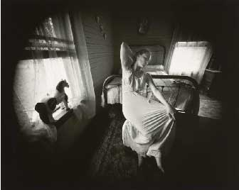 Image captions: Emmet Gowin, American (b. 1941). Edith, Danville, Virginia, 1971. Gelatin silver print (printed 1979), 8 x 9 15/16 inches. Gift of Hallmark Cards, Inc., 2005.27.1400.