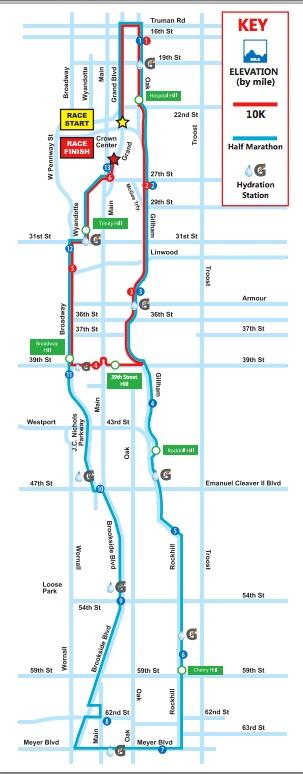 2015 Hospital Hill Run map.