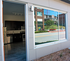 First floor units could function as live/work spaces for small businesses or service providers.