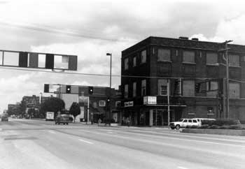 Broadway and 39th in 1999 before the Walgreen's was built.