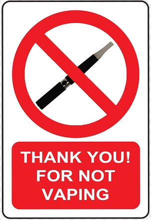 thank you for not vaping