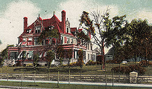 A postcard of the Kirk Armour mansion.