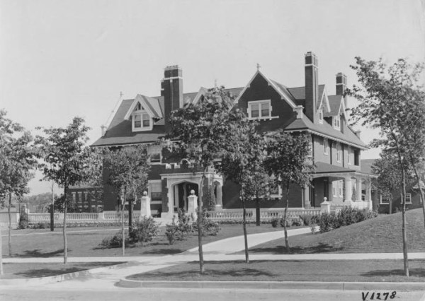 The Charles Campbell home, known as White Gables, was moved to Main Street in 1924 and repurposed as a commercial hall.