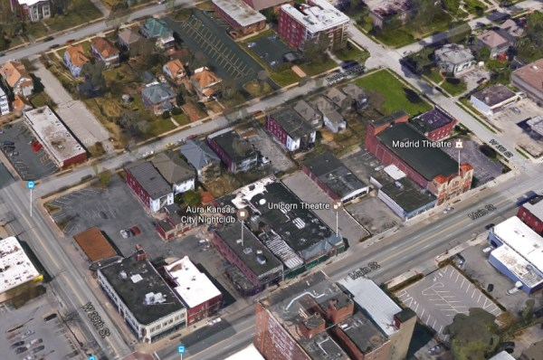 A recent Google map view of the block.
