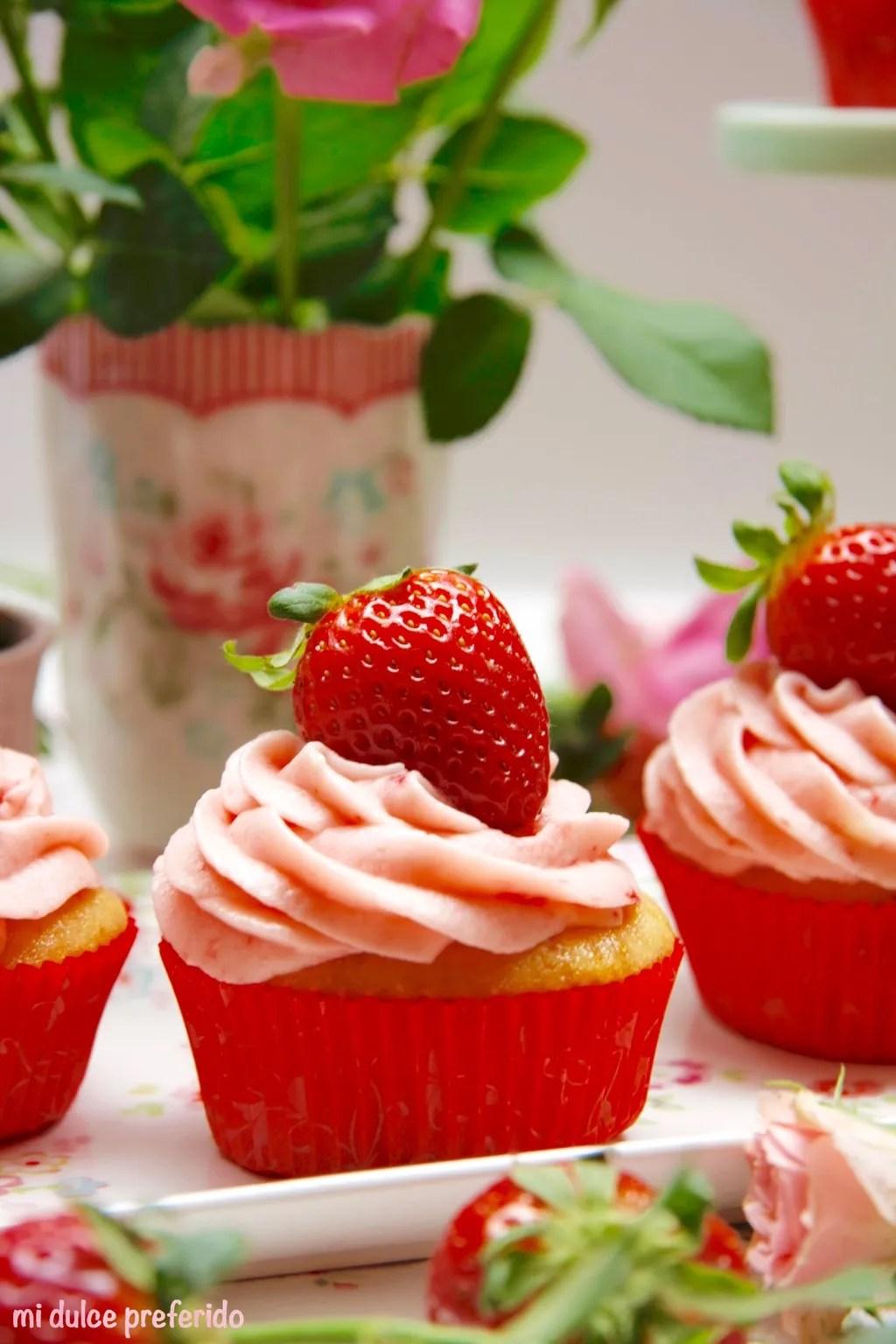 Cupcakes de fresas 6