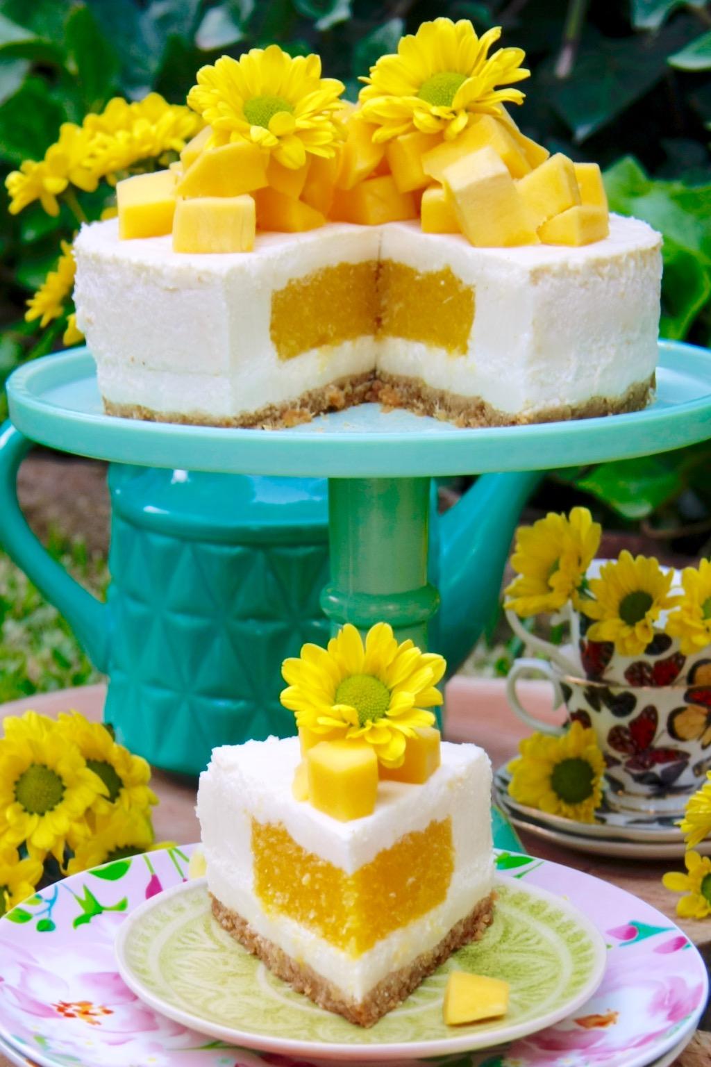 Tarta de yogur y mango 6