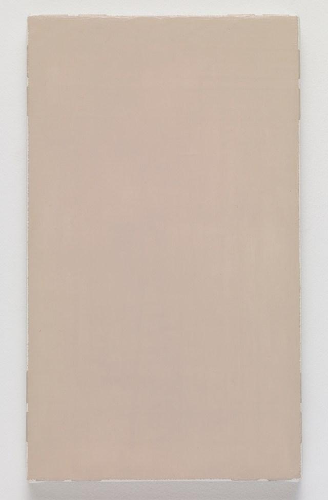 crustM3, 2015. Oil on canvas. 27.3 x 16.2 x 2 cm; 10 ¾ x 6 ⅜ x ¾ inches.