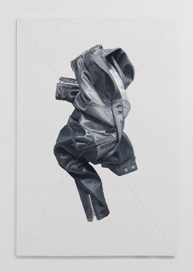 Jacket Panel (4), 2014. Acrylic and flashe on multiplex wood. 53 ⅛ x 35 ⅜ inches. © Mathew Gallery, Berlin - Photo, Gunter Lepkowski.