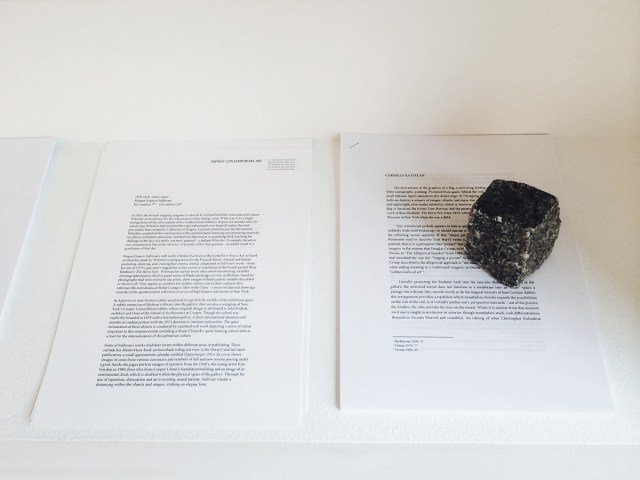 Text in lieu of an object, commissioned text by Cornelia Kastelan.