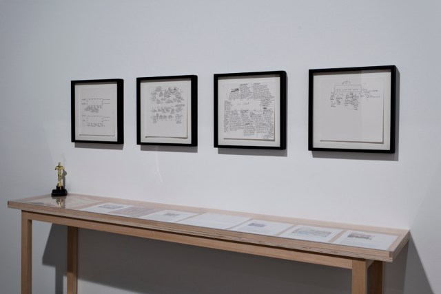 Amy Sillman, Seating Charts, 2009-2010. Ink on paper.