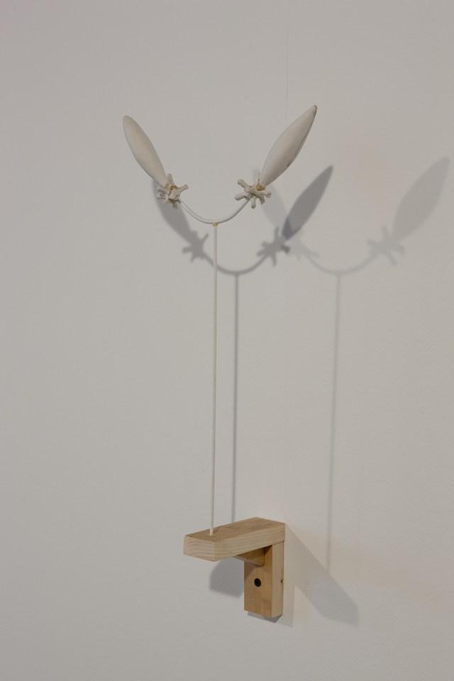 Untitled, 2007. DAS clay, wood.