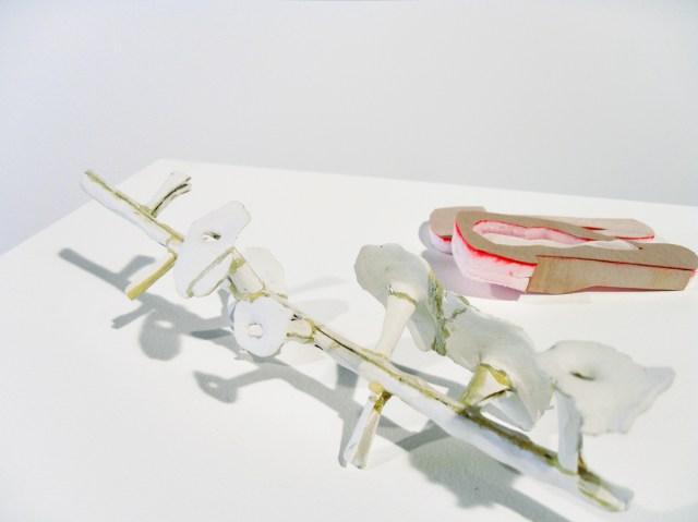 Untitled, 2007. DAS clay, polyurethane foam, veneer.