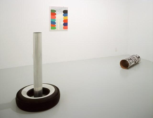 ISHTAR, installation view. Left to right: Cady Noland, Richard Hawkins, Cady Noland.