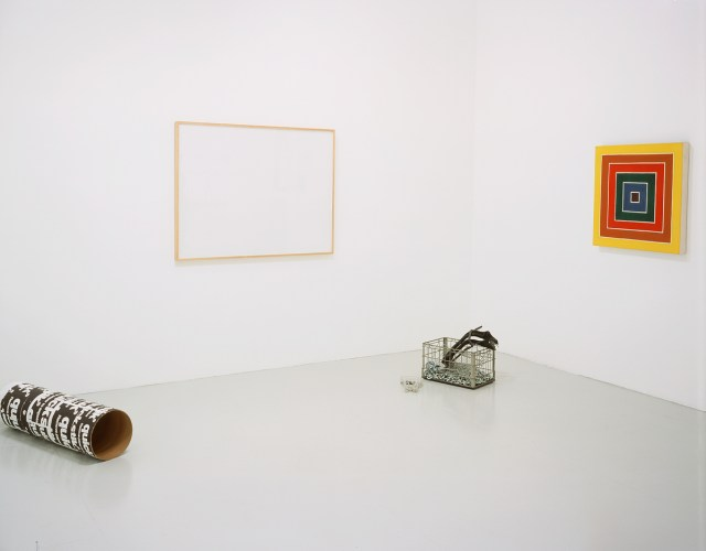 ISHTAR, installation view. Left to right: Cady Noland, Larry Johnson, Cady Noland, Sturtevant.