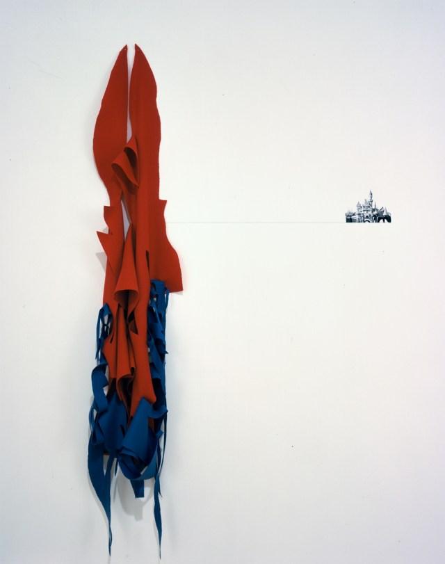 Jay Heikes, Kingdom, 2001. Wool, pencil, digital print.