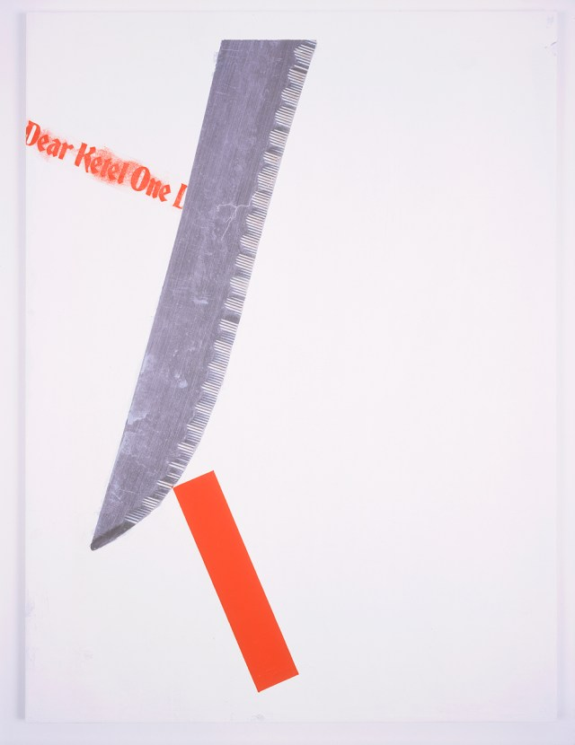 Dear Ketel One Drinker, 2004. Digital ink jet and silkscreen enamel on canvas. 36 x 48 inches.