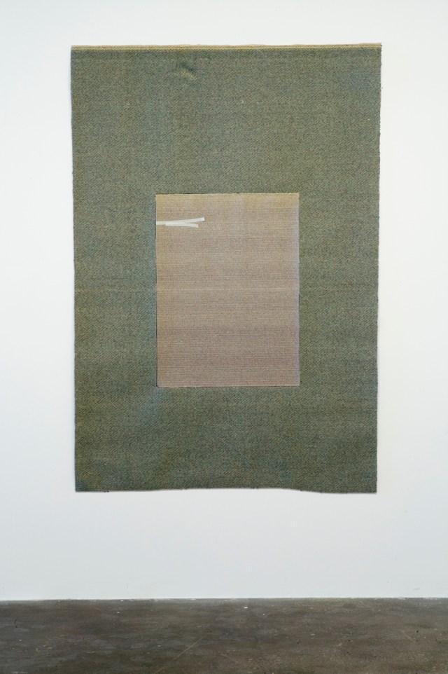 For Us, 2004/2007. Carpet, tape.