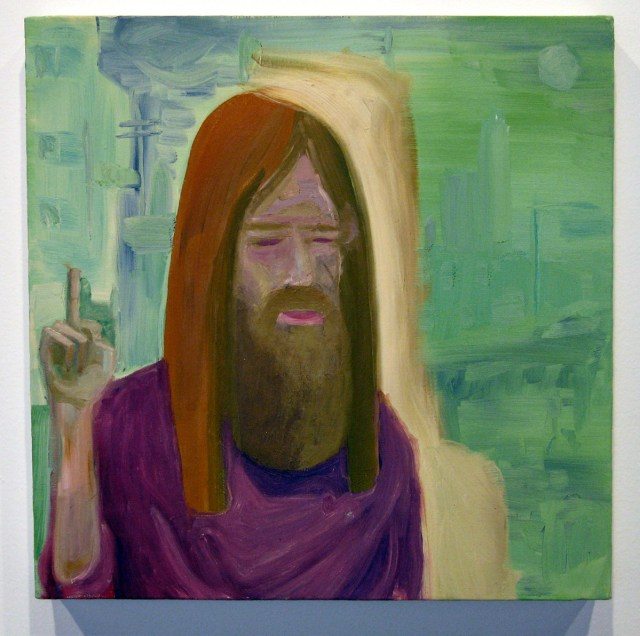 Call Me The Breeze, 2005. Oil on canvas. 12 x 12 inches.