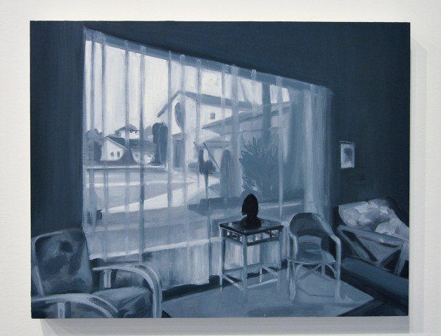 Apartment in Taos (Apartment Complex), 2005. Oil on panel. 11 ¾ x 13 ¾ inches.