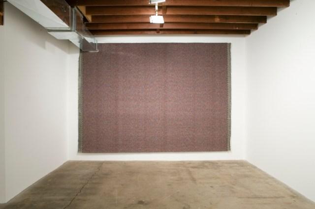 For Verbs, 2006. Carpet, staples.