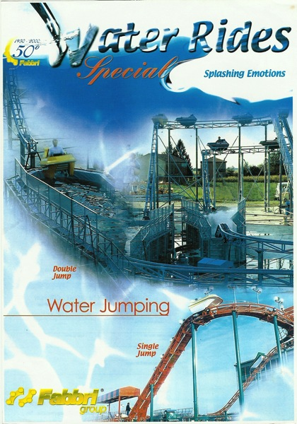 panoramic photo of flying flume water ride from australia for sale on the midway marketplace