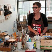Artist Josie Osborne at her Kenilworth studio.
