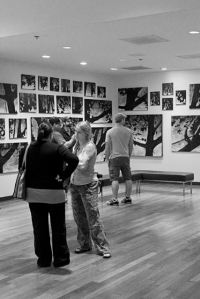 Inside Galerie M to see Todd's exhibition in Milwaukee, Wisconsin.