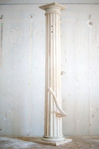 """. Breach - 2012 - reclaimed lumber, latex house paint and beeswax - 95""""x38""""x24"""""""