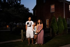 """DARRELL, NAYA, AND ANNIE- SHOREWOOD. 2015"" by Lois Bielefeld."