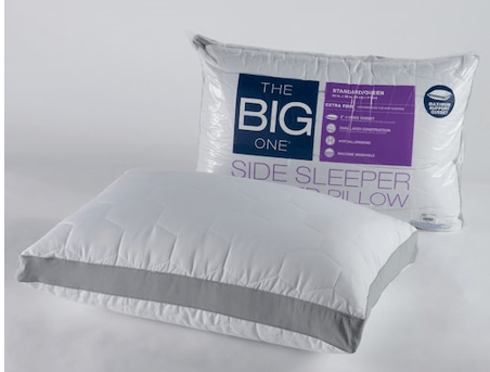 kohl s the big one quilted side sleeper pillow 6 29 reg 19 99